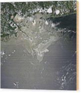 Oil Slick In The Gulf Of Mexico Wood Print by Stocktrek Images