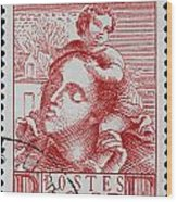 old French postage stamp Wood Print