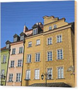 Old Town In Warsaw Wood Print