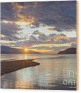 Pend Oreille Sunset Wood Print