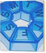 Pill Box Wood Print by Cristina Pedrazzini