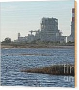 Power Station Wood Print by Henrik Lehnerer