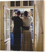President Barack Obama And First Lady Wood Print