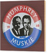 Presidential Campaign, 1968 Wood Print by Granger