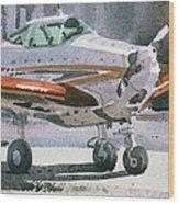 Private Plane Wood Print