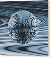 Quantum Computing Wood Print