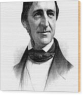 Ralph Waldo Emerson, American Author Wood Print