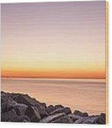 Reculver Sunset Wood Print