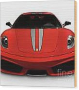 Red Ferrari F430 Scuderia Wood Print