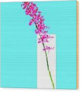 Red Orchid Bunch Wood Print