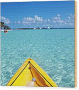 Relaxing At Coco Cay In The Bahamas Wood Print