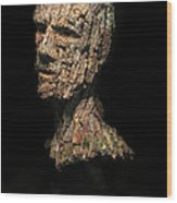 Revered  A Natural Portrait Bust Sculpture By Adam Long Wood Print by Adam Long