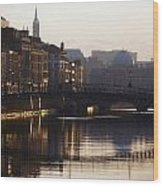 River Liffey, Dublin, Co Dublin, Ireland Wood Print