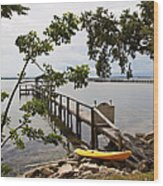 River Walk On The Indian River Lagoon Wood Print