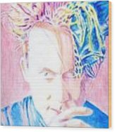 Robert In Pink And Blue Wood Print