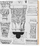 Romanesque Ornament Wood Print