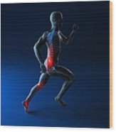 Running Injuries, Conceptual Artwork Wood Print