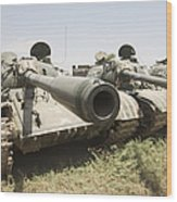 Russian T-54 And T-55 Main Battle Tanks Wood Print