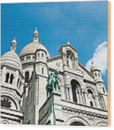 Sacre Coeur Basilica Paris France Wood Print