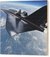 Saenger Horus Spaceplane, Artwork Wood Print