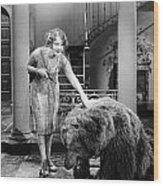 Silent Film Still: Animal Wood Print