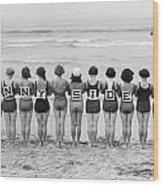 Silent Film Still: Beach Wood Print