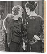 Silent Film Still: Women Wood Print