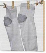 Socks Wood Print