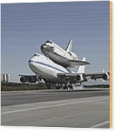 Space Shuttle Endeavour Mounted Wood Print