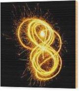 Sparklers Wood Print