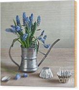 Still Life With Grape Hyacinths Wood Print