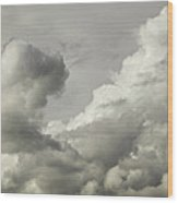 Storm Clouds And Thunder Heads Before Rain Storm Fine Art Print Wood Print