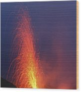 Stromboli Eruption, Aeolian Islands Wood Print