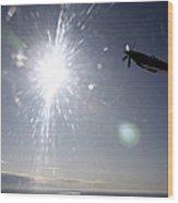 Supermarine Spitfire Mk. Xviii Fighter Wood Print by Daniel Karlsson