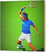 Tennis Art Wood Print