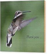 Thank You Card Wood Print