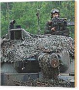 The Leopard 1a5 Main Battle Tank Wood Print by Luc De Jaeger