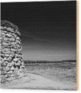 the memorial cairn on Culloden moor battlefield site highlands scotland Wood Print by Joe Fox