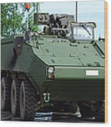 The Piranha IIic Of The Belgian Army Wood Print