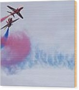 The Red Arrows Wood Print
