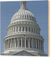 The United States Capitol Building Dome Wood Print