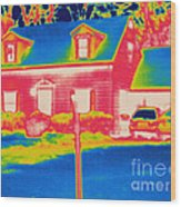 Thermogram Of A House Wood Print