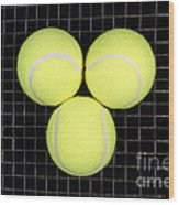 Time For Tennis Wood Print