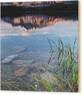 Two Jack Lake Wood Print