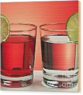 Two Red Drinks Wood Print