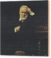 Victor Hugo, French Author Wood Print by Photo Researchers