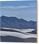 White Sands National Monument, New Wood Print