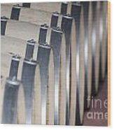Wine Barrels Wood Print