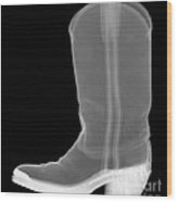 X-ray Of A Cowboy Boot Wood Print