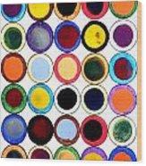 30 Circles Wood Print